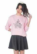 Cactus Drawing Sweater Top Jumper Sweatshirt Fashion Grunge Boho Bohemian Plants