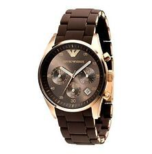 Authentic Emporio Armani AR5891 Sportivo Black Dial Women's Chronograph Watch