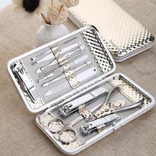 12 PCS/set Gold Nail Art Manicure Clipper Kit Pedicure Sets Tools Nail Manicure