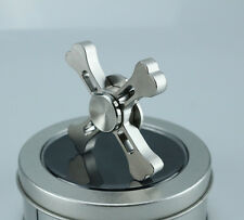 Silver Skull Metal Fidget Hand Spinner Tri-Spinner Finger Gyro Autism ADHD