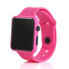 UK LED Watch Sports Silicone Rubber Digital Unisex Women Men Girls Boys Gifts Purple