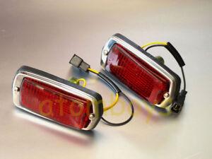 DATSUN 510 120Y B210 FAIRLADY 240Z 260Z RED SIDE TURN SIGNAL MARKER LIGHT LAMP