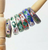 6 Vintage 2 Now Cloisonne Chinese Enamel Rings Floral Mixed Sizes 1 Kuo?