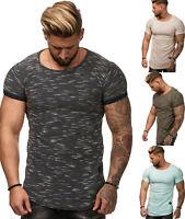 T Shirt Shortsleeve Strick Squad Round Neck Zipper Kurzarm S-XXL Herren