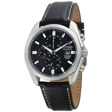 *NEW*  CITIZEN Eco-Drive Chronograph Black Dial Titanium Men's Watch CA0020-05E