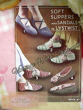 Vintage Knitting Pattern Lady's Slipper & Crochet Sandals.  ONLY 2.99 + FREE P&P