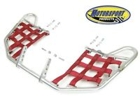 Suzuki LTR450 LTR 450 Quadracer Nerfbars Atv Nerf Bars Silver Bars/Red Nets