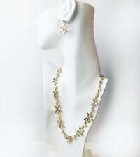 """19"""" length and plated base metal , acrylic necklace - PETALS & PEARLS NECKLACE"""