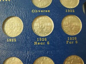 Canada 5 Cents Album 1922 to 1967 with 1925 1926 Near 1926 Far