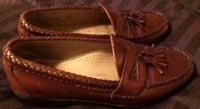 "Allen Edmonds ""MAXFIELD"" Loafers 8 D Tassle Brown Vibram"
