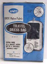 Vintage Navy Blue Nylon Travel Dress Bag In Original Package NMCO NEW
