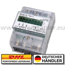 2020 geeichter LCD Drehstromzähler / Stromzähler S0 für Hutschiene 400V 80A