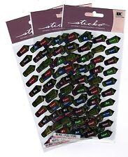 3 Packs Scrapbook Stickers Sticko Reward Shiny PENCIL repeats A+ Good! WOW!