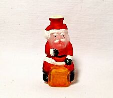 Cute~2001~Old World CHRISTmas~Santa on Chimney~Blown Glass Light Cover~Taiwan