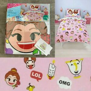 Disney Emoji Duvet DOUBLE Bedding Cover Set George Home Beauty And The Beast