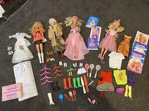 Vintage Barbie Dolls + Mixed Vintage Clothes & Accessories, Pamphlets