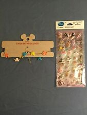 Disney By Junk Food Girls Minnie Mouse Choker Necklace & Puffy Stickers