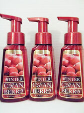 Bath Body Works WINTER CRANBERRY Anti-Bacterial Gentle Foaming Hand Soap  x 3