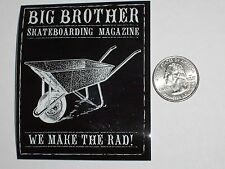 Vtg Big Brother Rad Skateboard Magazine Hustler Skate Nos Rare Decal Sticker !