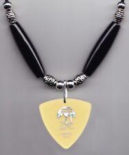 Imagine Dragons Ben McKee Signature Clear Yellow Guitar Pick Necklace 2013 Tour
