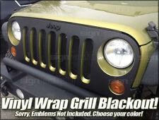 2007 2008 2009 2010 2011 2012 2013 2014 Jeep Wrangler Grill Blackout Wrap Vinyl