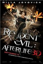 RESIDENT EVIL: AFTERLIFE- 27x40 movie poster M.JOVOVICH
