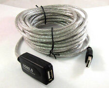 25 Ft USB 2.0 Active Repeater Male to Female Extension Cable Adapter Cord