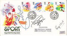 Liverpool multi signed Three Legends of Football Association Fdc