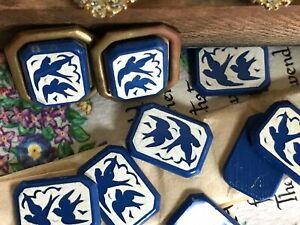 Vintage Bird Cabochons, Birds cabochons, Bird Lovers, Blue Birds, #1556C