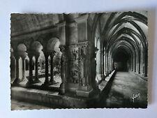 Arles France B&W Postcard c1950 Cloisters Saint Trophime Pilier Nord-ouest