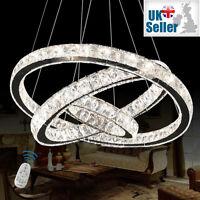 K9 Cristal Bague Pendentif Lumière Plafond Lustre 3 Couleurs à Variation +