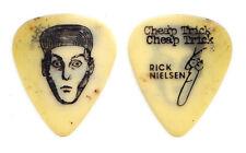 Vintage Cheap Trick Rick Nielsen Face White Guitar Pick - 1980-1994 Tours