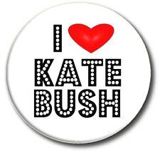 "I LOVE KATE BUSH..1"" / 25 mm RETRO 80'S POP BUTTON BADGE"
