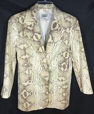 Women's Nieman Marcus Exclusive Cotton Reptile Print Blazer 3/4 Sleeve - M - NWT