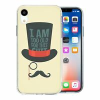 For Apple iPhone XR Silicone Case Funny Sayings Moustache - S1162