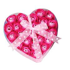 18/24Pcs Scented Rose Flower Petal Bath Body Paper Fancy Soap Wedding Party Gift