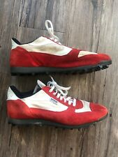 Norman Walsh Handmade Retro Athletic Shoes Made In England Size US 8.5 Red White
