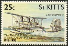 RAF SHORT SINGAPORE III S.19 Flying Boat Seaplane Aircraft Stamp (1993 St Kitts)