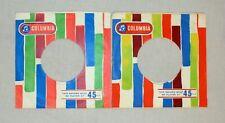 Job Lot  X 2 COLUMBIA :  7'' record sleeves. Company Original Vintage. (re335)
