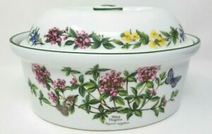 Royal Worcester Herbs Large 10 Inch Lidded Casserole Dish Black Mustard Thyme