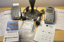 Lot Of 2 Verifone Vx520 Credit Card Chip Emv Reader Machine W/ Adapters Pamphlet