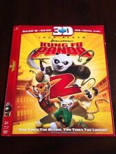 Dreamworks Kung Fu Panda 2 3D Blu Ray/DVD Slipcover Only COLLECTOR GRADE OOP!