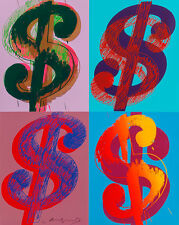 $ Quadrant 1982 by Andy Warhol 100cm x 80cm High Quality Canvas Art Print