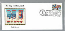 New Jersey First Day Cover April 4, 2002 Nib