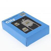 Manchester City Fc Man City Cufflinks & Keyring Bottle Opener Set in Gift Box