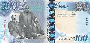 Botswana 100 Pula 2009 Unc Pn 33a