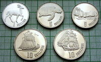 REPUBLIC OF SOMALILAND 2019 - AH 1440 SET 5 COINS - ANIMALS & SAILING SHIPS, UNC