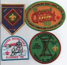 Southern New Jersey Mixed Lot of 4 (1998-2000) Patches, Mint