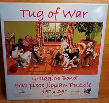 SunsOut TUG OF WAR 500 Piece Puzzle, 45829, Higgins Bond, Dogs & Cats, Excellent