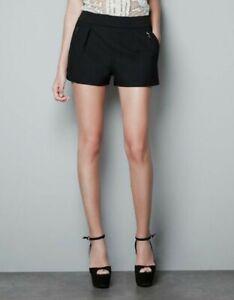 Zara Woman Size M (UK 10) black Shorts Summer Winter Retro Vintage Look sexy